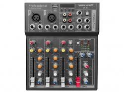 Voice-K. Keverőpult 2 Mo./1 St. csat., USB int.f., BT/MP3, VK-F4