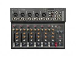 Voice-K. Keverőpult 5 Mo./1 St. csat., USB int.f., BT/MP3, VK-F7