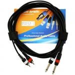 2xRCA - 2x6,3 Jack kábel, 3m, AC220/3M