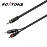 3,5 Sztereó Jack - 2xRCA kábel, 3m , RAYC150L3