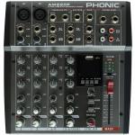 Phonic Keverőpult, 2 Monó/2 Sztereó, USB lejátszó AM220P